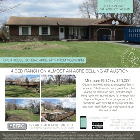 Real Estate Auction Minimum Bid $ 10,000.00 Sat. April 30th at 11am Preview at 10am 1202 Rochelle Toledo, OH 43615