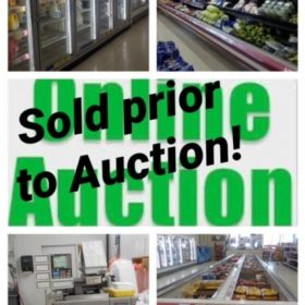 Sold Prior to Auction ! Grocery Store Liquidation Equipment and Fixtures Online Only Bidding ends in April 702 Woodville Rd Toledo, OH 43605